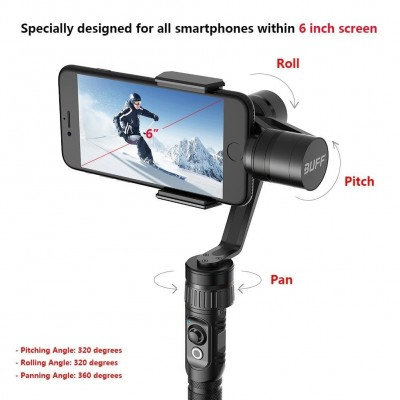 Hohem 3-Axis Gimbal Stabilizer for Smartphones and Gopro Hero