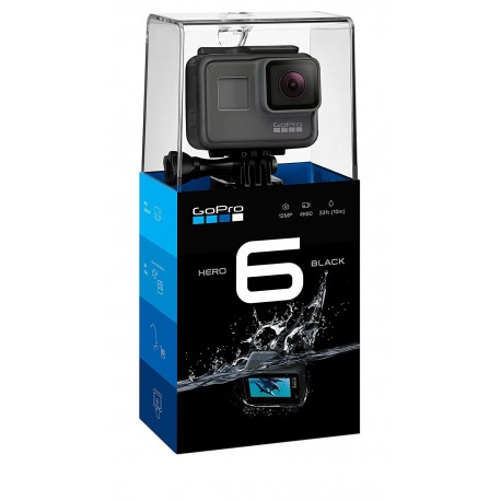 GoPro HERO6 Black with Head Strap, Battery,Memory Card,Case