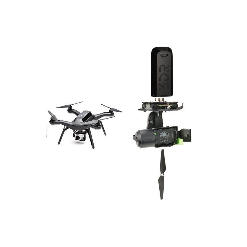 Buy 3DR Solo Drone Quadcopter with Gimbal, Battery, Propellers