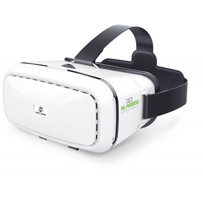 Holy Stone 3D VR Headset Virtual Reality Glasses with Adjustable Pupil and Strap for Drones